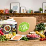 Hello Fresh Recipe Box and ingredients